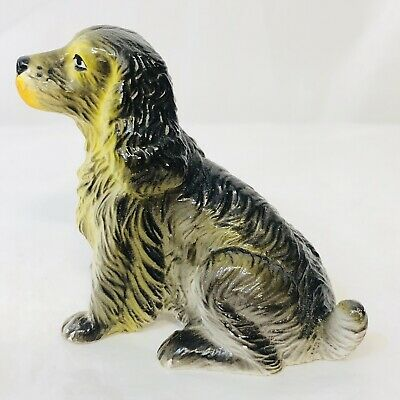 Vintage New-Ray Soft Rubber English Cocker Spaniel Dog Toy Figure 2 1/2