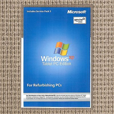 - SEALED Windows XP Tablet PC Edition 2005 Install Reinstall Disc Pro Repair CD