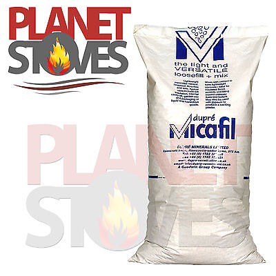 Vermiculite 100L Chimney Cavity Insulation for Wood Burning Stove Flue Pipe