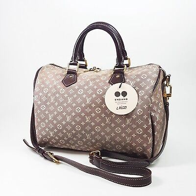 Authentic Louis Vuitton Speedy Bandouliere 30 Idylle Sepia M56704 Hand Bag LA627
