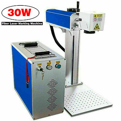 30w Fiber Laser Marking Machine Metal Engraving Engraver High Precision 110v