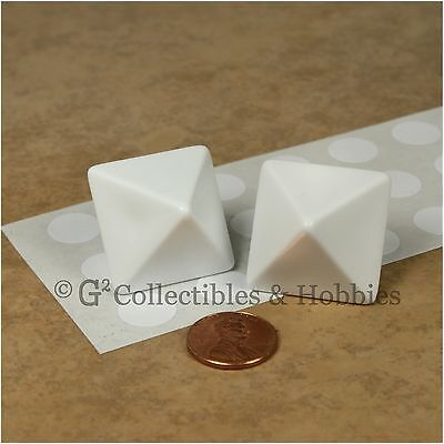 Stickers Dice - NEW 2 Blank Jumbo 25mm D8 Eight Sided Dice w/ Stickers D&D RPG Game 1 inch D8s