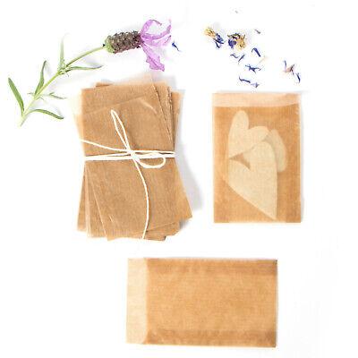 Pergamintüten Flachbeutel Pergamin Papier - Halbtransparent 3 Größen  - Braun