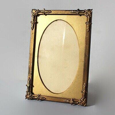 Antique Photo Frame Gilt Art Deco 10.5cm x 15.5cm Theatre Prop.