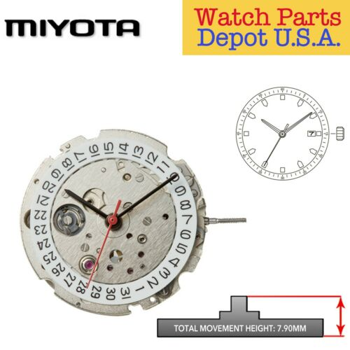 Original Miyota 8215 Japan Automatic Movement, 3 Hands, Date 3 - NEW!