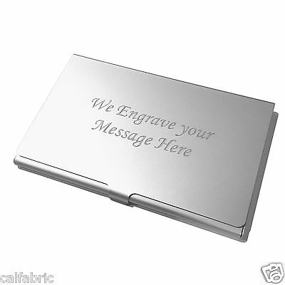 Custom Engraved Business Card Holder Credit Card Holder