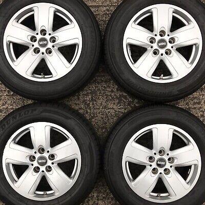 Genuine Mini Countryman F60 16 Alloy Wheels Bridgestone Tyres 205 65 Silver Rims