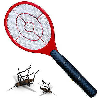 Handheld Bug Zapper Tennis Racket Electronic Fly swatter 1500V Mosquito Insect  ()