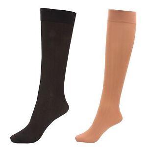 3-x-Ladies-Women-80-Denier-Knee-High-Trouser-Pop-Socks