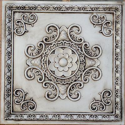 PL08 Faux paint tin 3D antique white ceiling tiles decor wall panels10tiles/lot