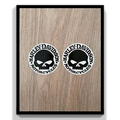 2 x Harley Davidson Skull Ride Hardcore Motor Cycles Car Decal Vinyl Sticker