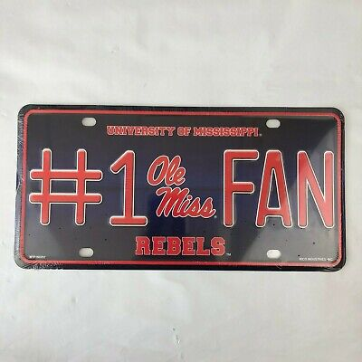 MISSISSIPPI OLE MISS REBELS NCAA METAL LICENSE PLATE AUTO TAG FREE SHIPPING (Ole Miss Auto-tag)
