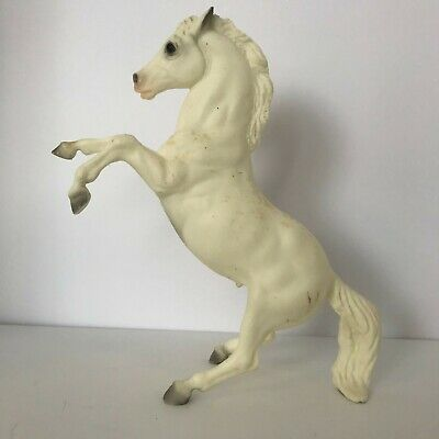 Vintage Breyer Classic White Rearing Stallion Lipizzaner Horse Some Spots 8 Tall