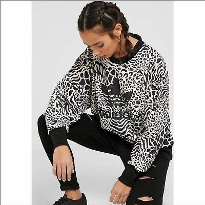 Girls Adidas Little Zebra Print Velour Sweatshirt