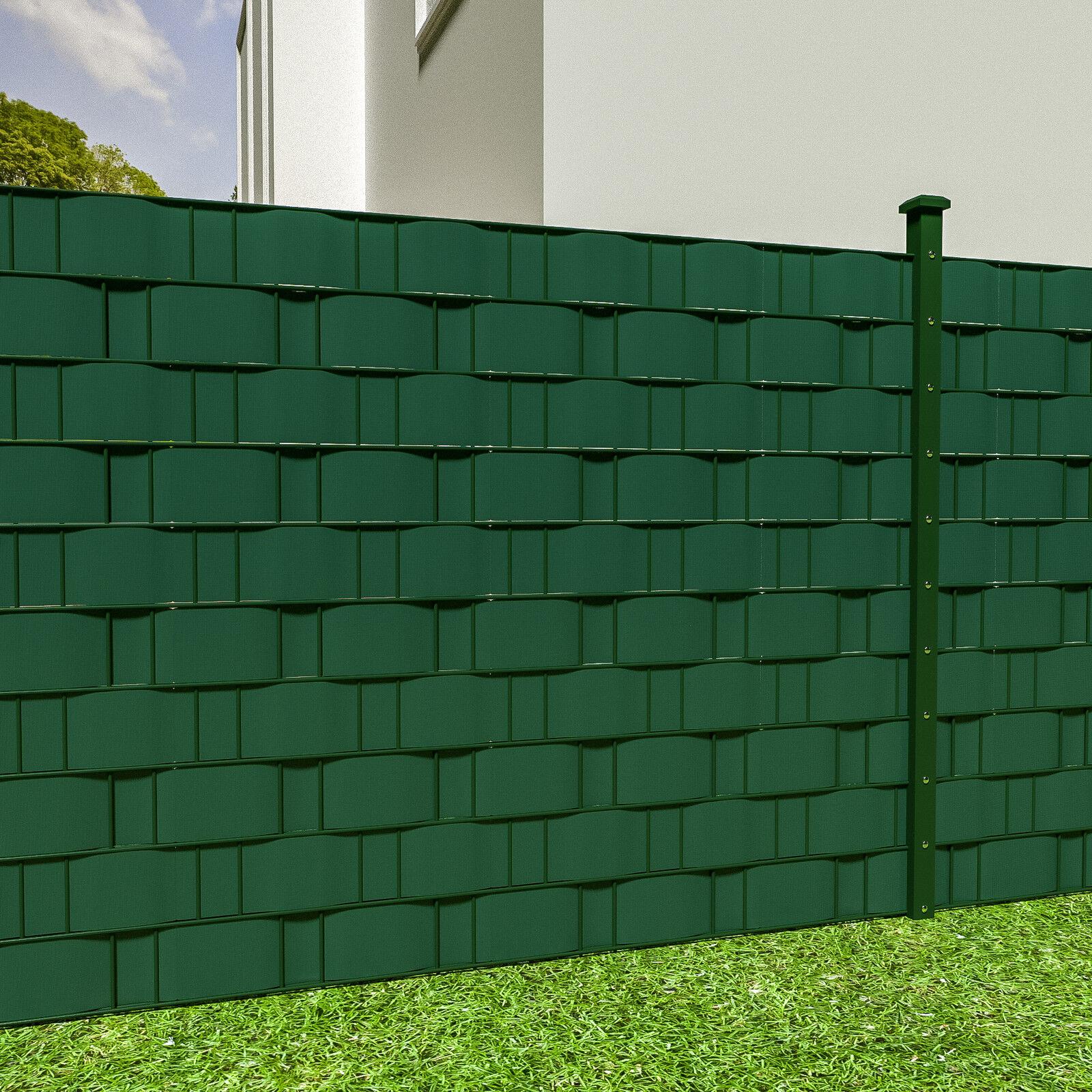 pvc sichtschutz streifen sichtschutzfolie doppelstabmatten schutz zaun 35m gr n eur 24 89. Black Bedroom Furniture Sets. Home Design Ideas