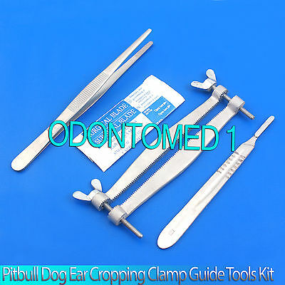 Pitbull Dog Ear Cropping Clamp Guide Tools Kit Veterinary Instruments Vt-101