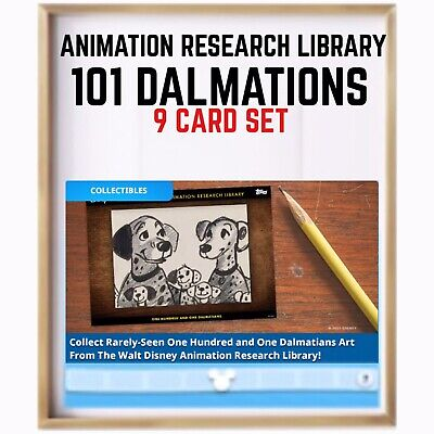 101 DALMATIONS-ANIMATION RESEARCH LIBRARY-9 CARD SET-TOPPS DISNEY COLLECT one