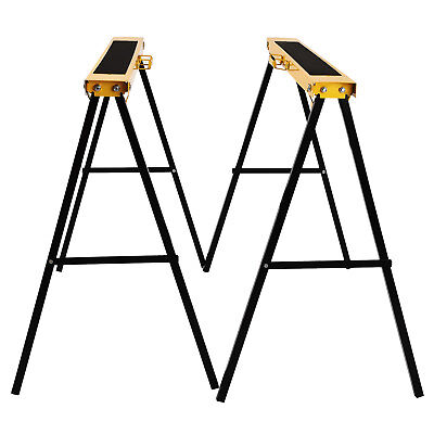 BN Pair of 2 Pack Heavy Duty Saw Horse Steel Folding Legs Sawhorse