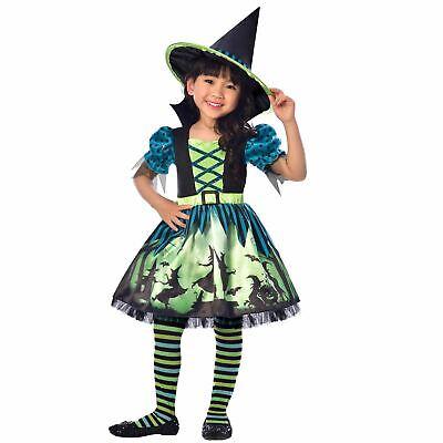 Kinder Mädchen Hübsch Hocus Pocus Magic Hexe Halloween Kostüm Hut Harry Zauberer
