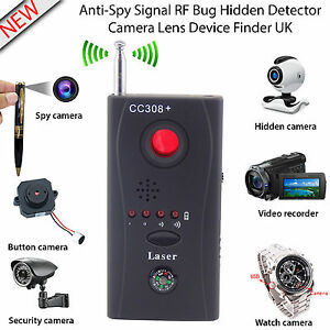 RF Bug Detector Anti-Spy Signal Hidden Camera Lens GSM Device Tracer Finder UK