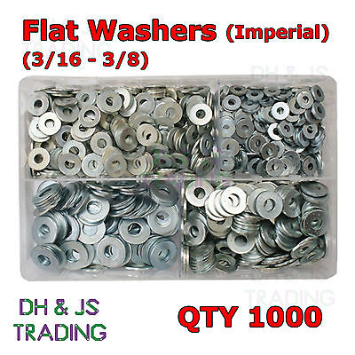 Assorted Box of Flat Washers Imperial 3/16 1/4 5/16 3/8 Table 4 Heavy Duty
