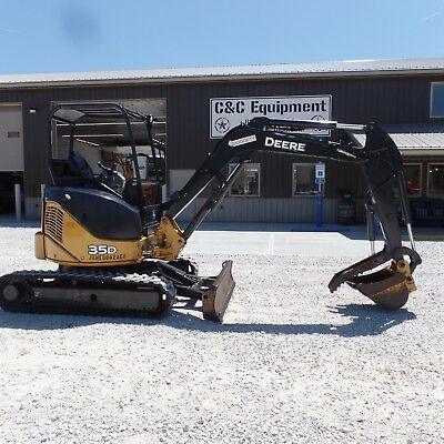 2012 John Deere 35d Mini Excavator Diesel Low Hours