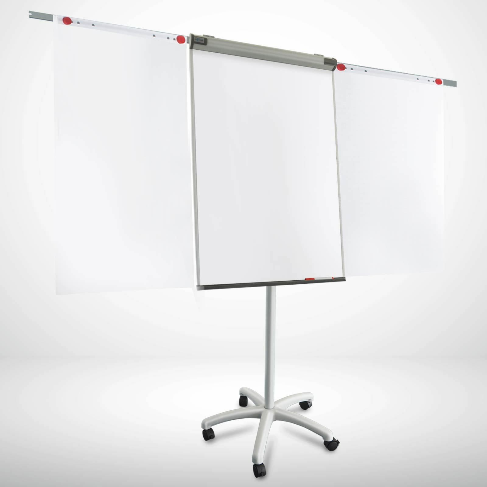 Flipchart Whiteboard Mobil Piranha SA Sternfuß Höhenverstellbar Universal Papier