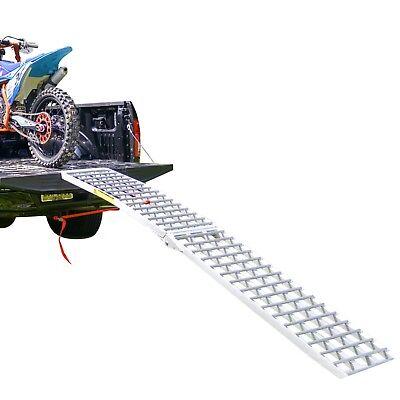 Aluminum Heavy Duty Folding Single Runner Motorcycle Ramp - 9' Long