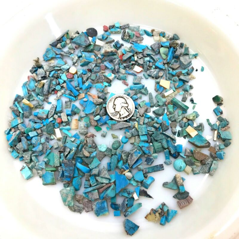 Lot of 100+g grams Turquoise Rough Jewelry Making Old Stock AZ Estate *f11