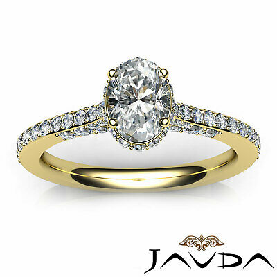 Circa Halo Pave Set Oval Diamond Engagement Ring GIA D Color SI1 Clarity 1.15Ct 10