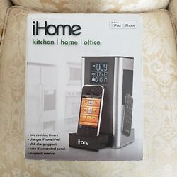 iHome iP39 Kitchen Timer and Alarm Clock Radio Speaker System for iPhone/iPod