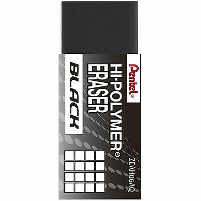 Pentel Hi-polymer Block Eraser Small Black Pentel Zeah06a - 48pk
