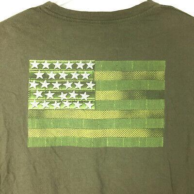 5.11 Tactical Mens XXL 2XL Dark Green American Flag Graphic S/S Cotton T-Shirt - Flag 2 Dark T-shirt