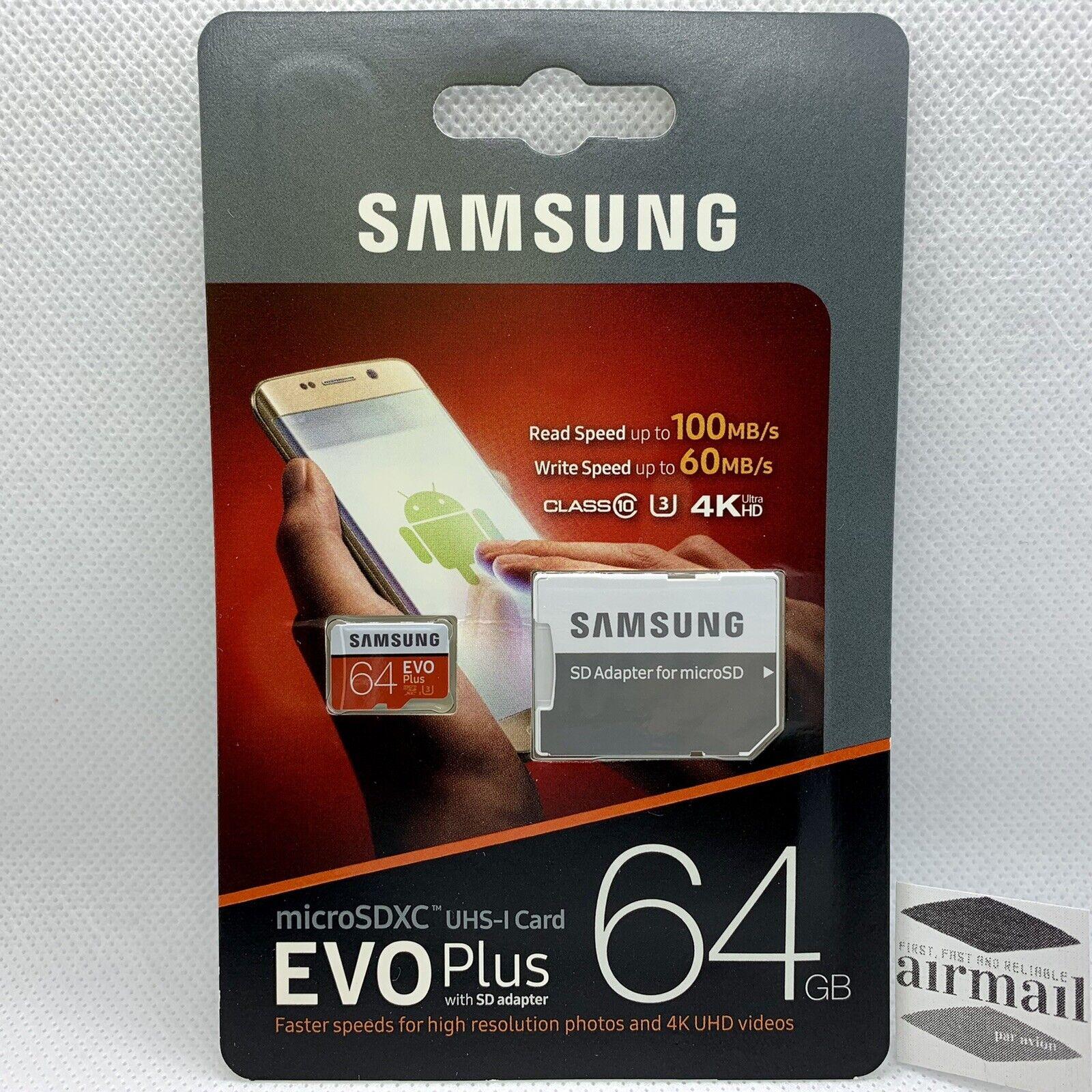 new 64gb evo plus micro sdxc w