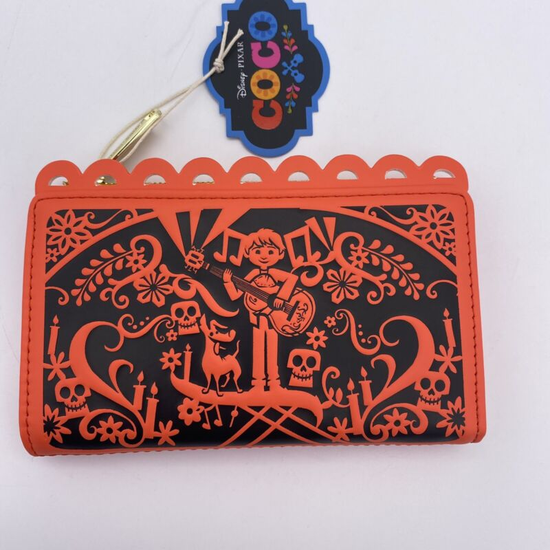 Loungefly Disney Wallet Coco Party Banner Flags Papel Picado Pixar Flap Clutch