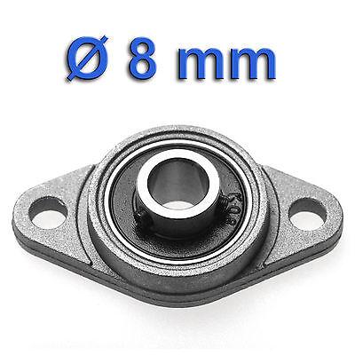 Miniatur Flanschlager für Ø 8mm Welle | Kugellager Pendellager Gehäuselager