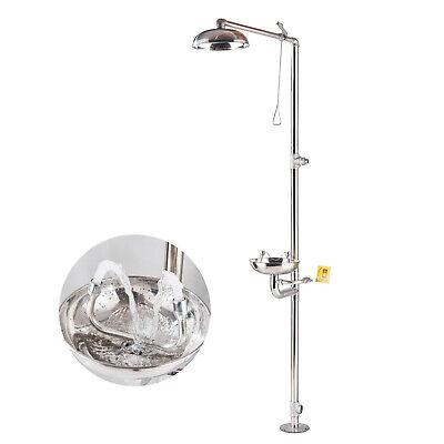 Stainless Steel Emergency Eyewash Shower Station Eyeface Wash Washer Station