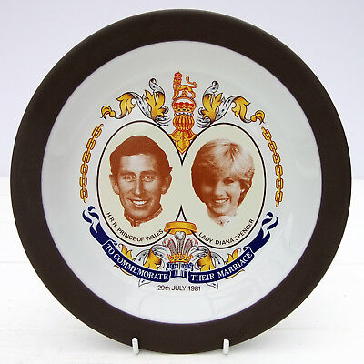 Vintage Hornsea Pottery Royal Wedding Princess Diana Charles 1981 Side Tea Plate
