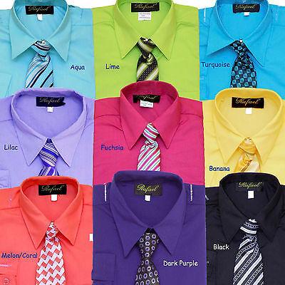 BOYS RECITAL, PARTY,WEDDING LONG SLEEVE DRESS SHIRT w/ TIE, SZ: 2T to 20 - Party Dress Boys