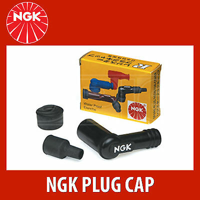NGK Motorcycle Resistor Plug Cap / Cover - LB05E - Black (8031) - Single