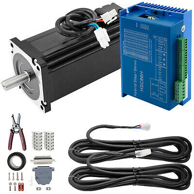 2 Phase Nema34 12nm 1712oz-in Closed Loop Stepper Servo Motor Hybrid Driver Cnc