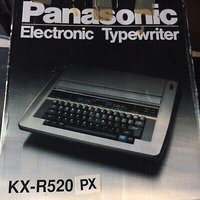 New Panasonic Electriconic Typewriter Kx-r520 Open Box