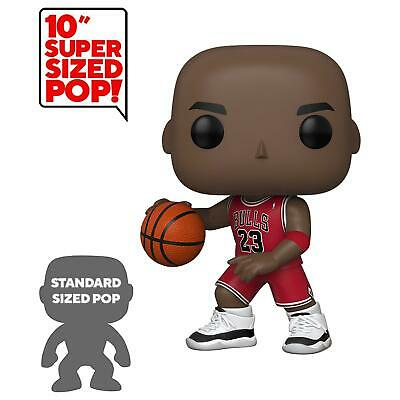 "Funko Michael Jordan 10"" Pop! Vinyl NBA Chicago Bulls Red Jersey Figure #75"