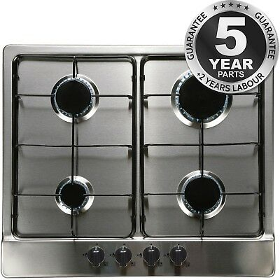 SIA SSG602SS 60cm 4 Burner Built In Stainless Steel Gas Hob with LPG Kit