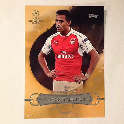 ALEXIS SANCHEZ Best of the Best #ed/10 made 2016 Topps UEFA Champions 5X7