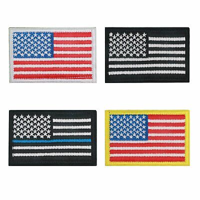 US Flag Tactical Patch American USA Hook & Loop Army Military Uniform Patches Crafts