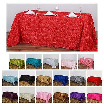 Rosette/ Rose Pattern Rectangle Tablecloths 90x132