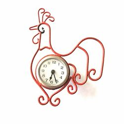 Rooster Metal Art Wall Clock