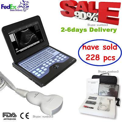 Usa Fedex Portable Laptop Machine Digital Ultrasound Scanner 3.5 Convex Probe.