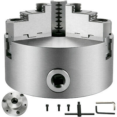 Vevor Metal Lathe Chuck 3 Jaw Self-centering 6 W 1-12-8 Adapter Semi-finished